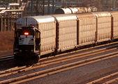 Fotografie Eisenbahn-Verkehrs-Detroit-Hof