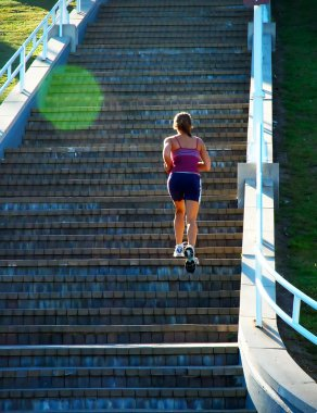 Stair Climber Fitness Girl