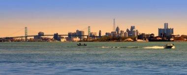 Detroit Skyline on Detroit River