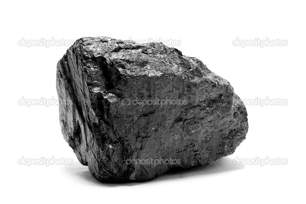 A block of coal