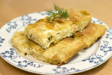 Turkish pie with cheese