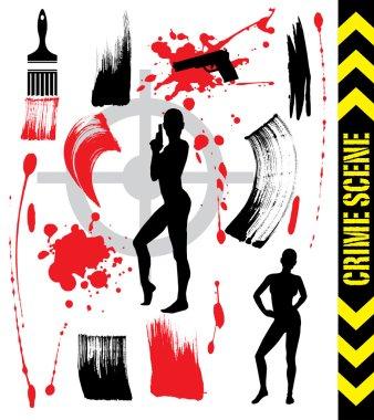 Abstract Crime Scene