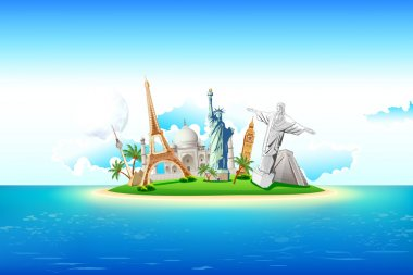 Monuments on Island