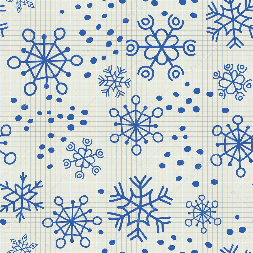 patrones sin fisuras de los niños de los copos de nieve y puntos ...