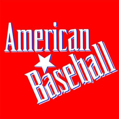 American Baseball Lettering Greetings card Vector