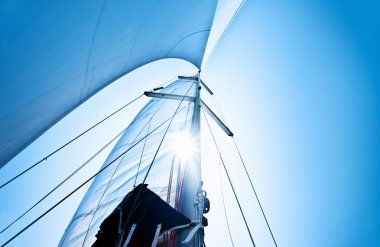 Sail over blue sky