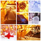 Weihnachten Geschenk Konzept collage
