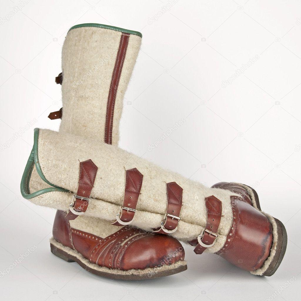8d7bf40d09f59 Zimowe ręcznie robione buty góralskie zakopane - Polska — Zdjęcie stockowe