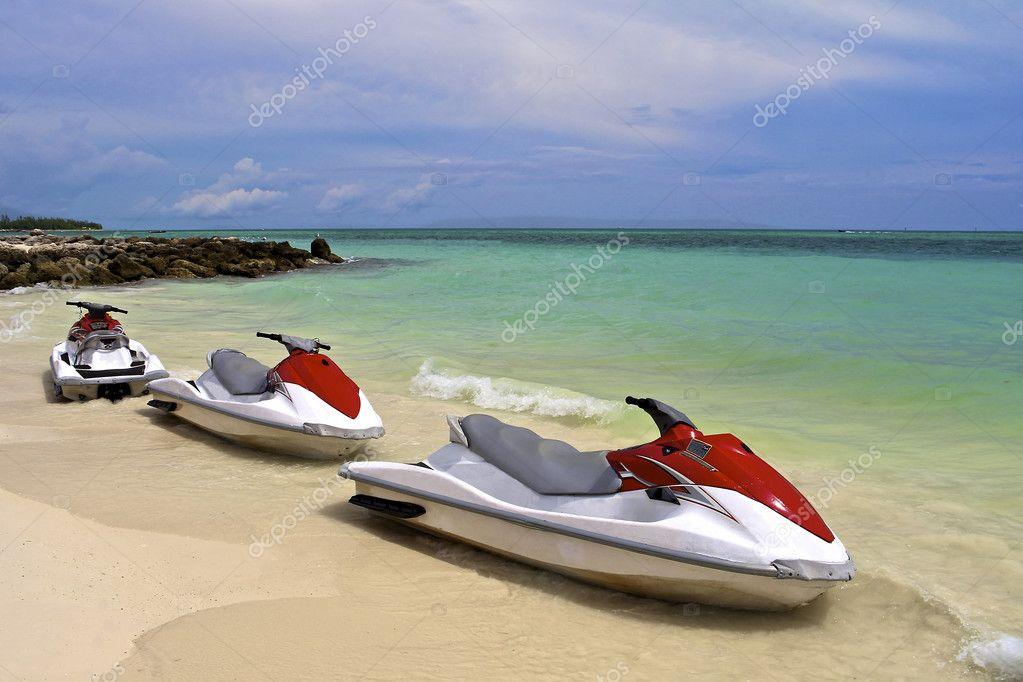 Jet Ski waiting at the shore