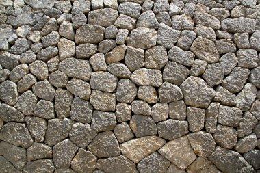 Gray limestone masonry wall typical from Mallorca style