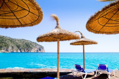 Camp de Mar in Andratx from Mallorca balearic island