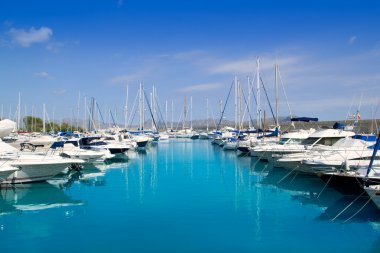 Alcudia Port Marina in North Majorca in Mallorca