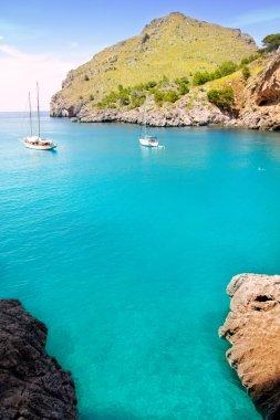 Escorca Sa Calobra beach in Mallorca balearic islands