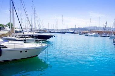 Marina in Palma de Mallorca city from Majorca
