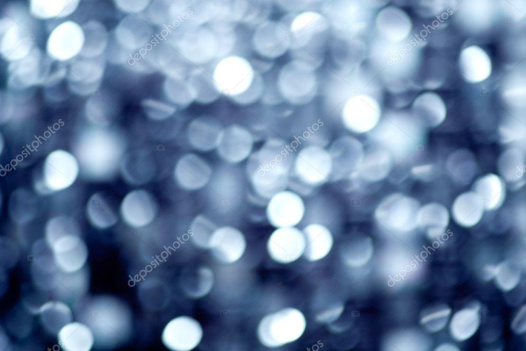 Abstract defocused blur blue christmas lights
