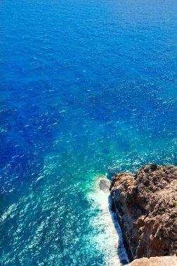 Mediterranean coast high view