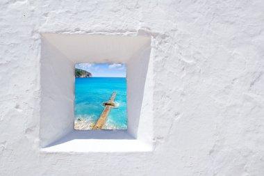 Andratx mediterranean white wall window