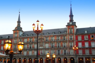 Madrid Plaza Mayor typical square in Spain