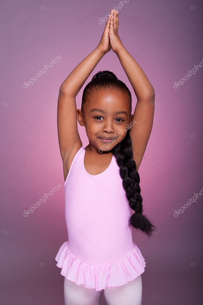 Cute Stock Photography: Cute Little African American Girl Dancing