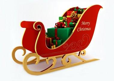 Christmas sleigh with presents