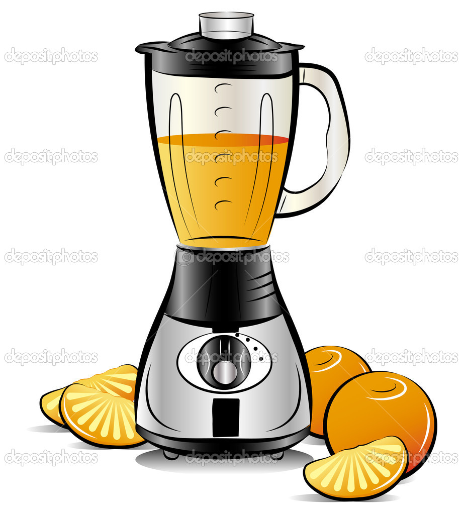 mixeur de cuisine couleur dessin avec jus d 39 orange image vectorielle 6819175. Black Bedroom Furniture Sets. Home Design Ideas