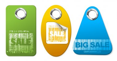 Set of sale colorful tags