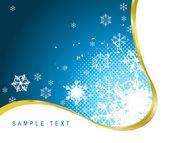 Weihnachten Hintergrund mit Schneeflocken
