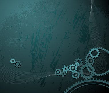 background with various cogwheels