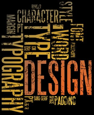 Grunge design and typography background stock vector