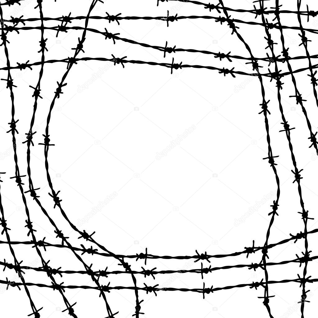 barbed wire frame — Stock Vector © orson #6871492