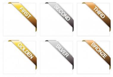 Set of winner corner ribbons