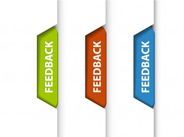 Feedback tabs on the edge of the (web) page