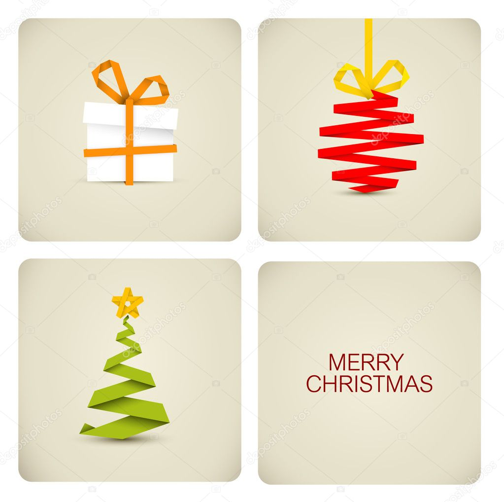 Simple vector christmas decoration made from paper