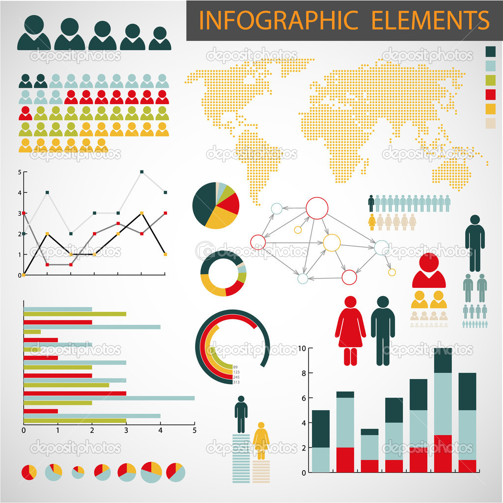 Vector set of Infographic elements