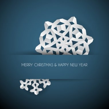 Vector white paper christmas snowflake