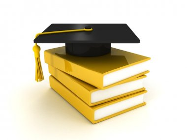 Books and magister cap