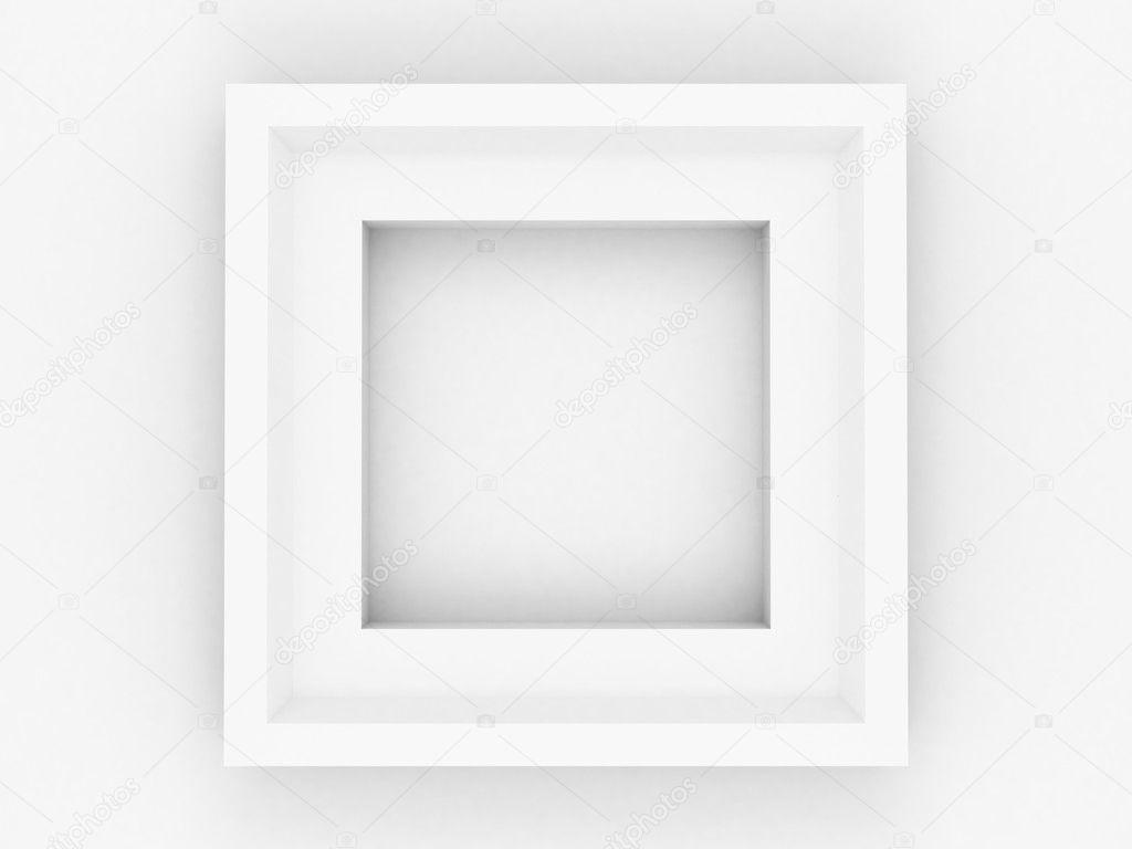 方形简单空白白框 — 图库照片©borzaya#7952761