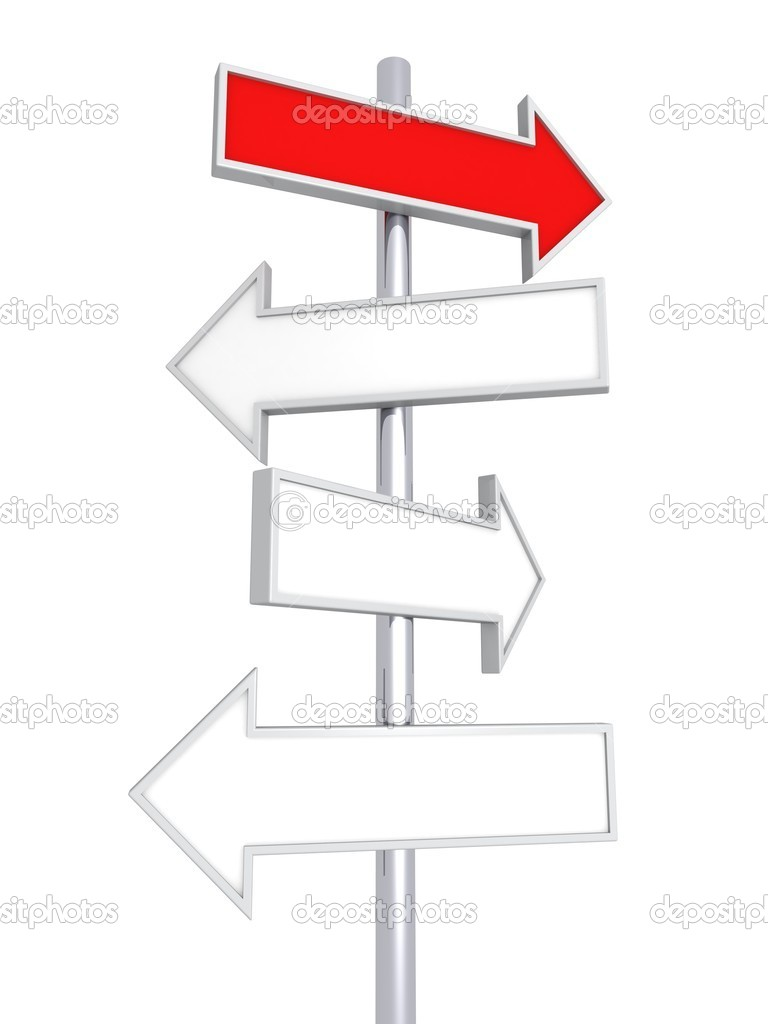 blank direction signs template