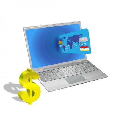 Vector internet shopping with credit card