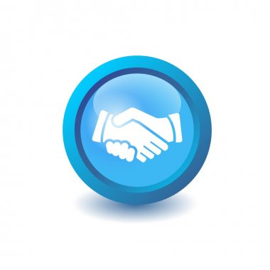 Vector shake hands icon