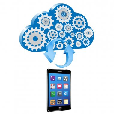 Vector smart phone synchronize with cloud