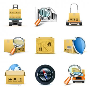Distribution and shipping icons | Bella series