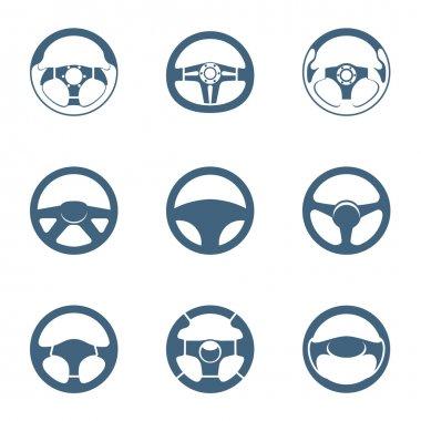 Steering wheel icons | Piccolo series stock vector