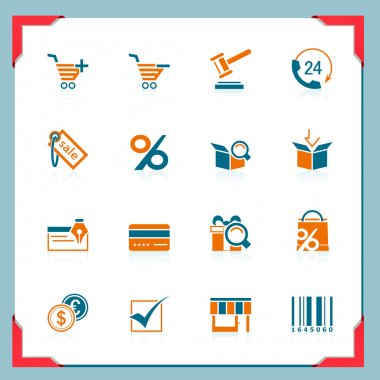 Shopping icons | In a frame series