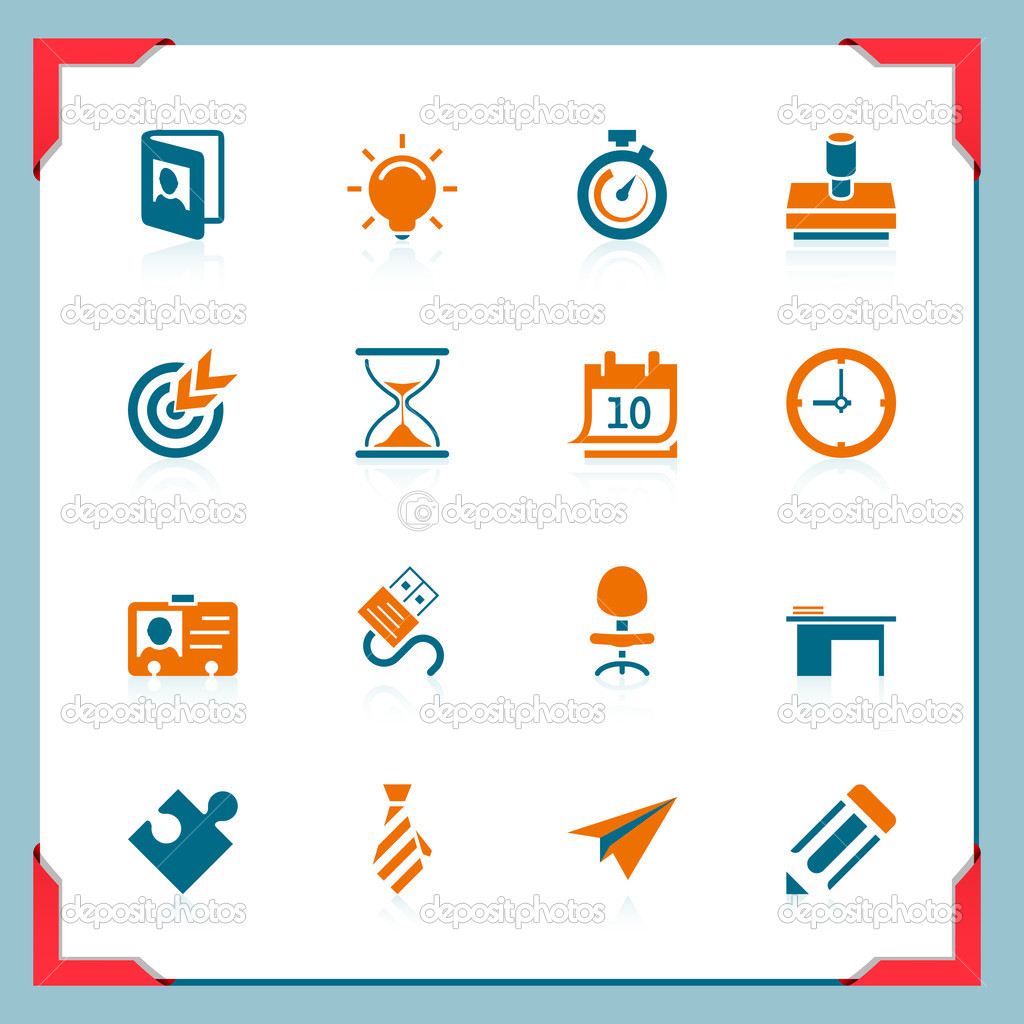 Business and office icons | In a frame series