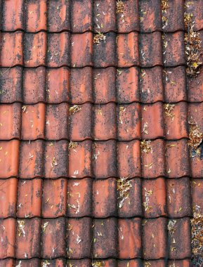 Old red roof tiles