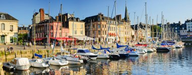 Panorama. Sunset in Honfleur.