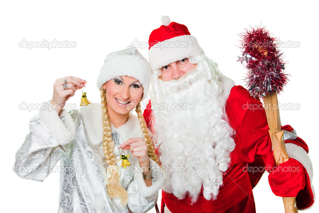 Russian Christmas characters father Frost and Snow Maiden