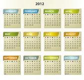 Fotografie 2012 calendar - square frames with tabs