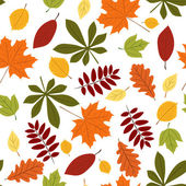 Seamless with autumn leaves